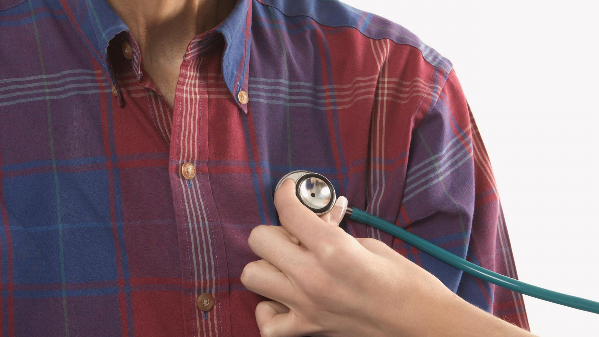 An elderly male and a stethoscope