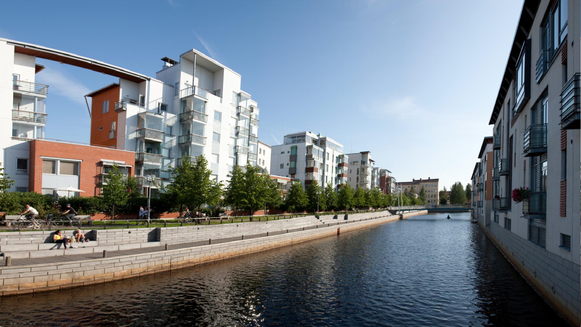 Oulun Meritullin kaupunginosa ja Kiikelin saari