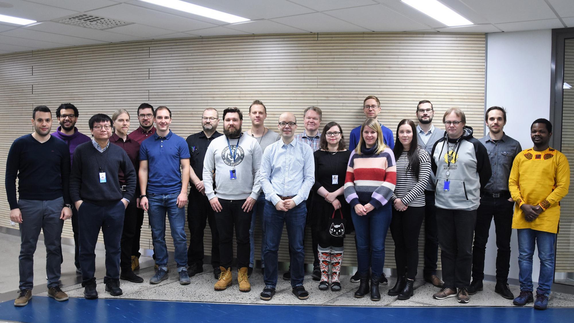 Prosessimetallurgian tutkimusryhmän ryhmäkuva, joulukuu 2019.